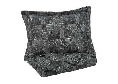 Jabesh Black King Quilt Set