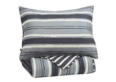 Image for Merlin Gray/Cream Twin Coverlet Set
