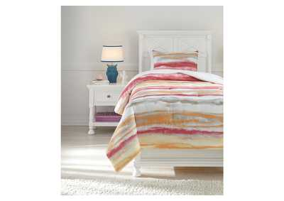 Tammy Pink/Orange Twin Comforter Set,Signature Design By Ashley