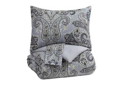 Susannah Blue/Cream King Comforter Set