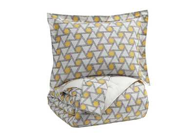 Clio Yellow/Black King Comforter Set
