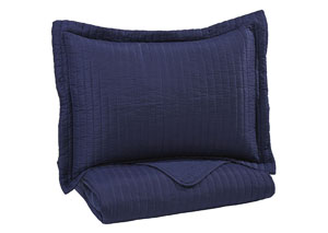 Raleda Navy Twin Coverlet Set