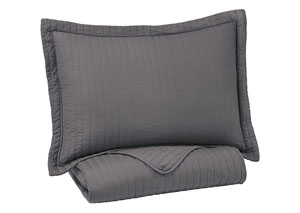 Raleda Gray Twin Coverlet Set