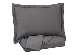 Raleda Gray Full Coverlet Set