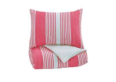 Image for Taries Pink Twin Duvet Cover Set