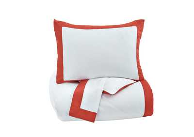 Ransik Pike Coral King Duvet Cover Set