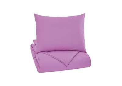 Plainfield Lavender Twin Comforter Set