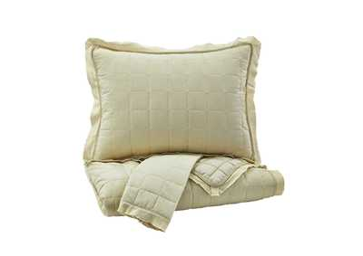 Amare Sand King Coverlet Set