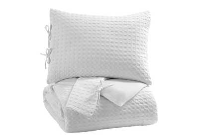 Image for Maurilio White Queen Comforter Set
