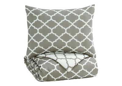 Image for Media Gray/White Twin Comforter Set