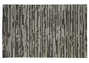 Maddoc Dark Brown/White Large Rug