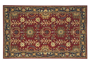 Lymen Red/Black/Gray Rug