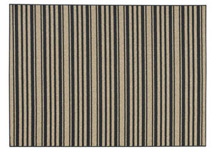 Joffrey Black/Tan Large Rug