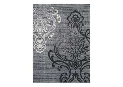 Image for Verrill Gray/Black 5' x 7' Rug
