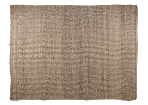 Textured Tan/White 96'' x 120'' Rug