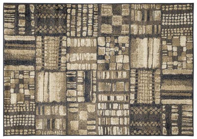 Hilliard Black/Brown Large Rug