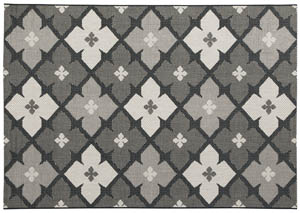 Asho Black/Cream Medium Rug