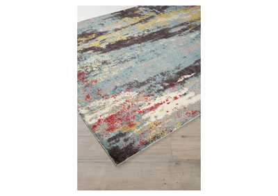 Image for Quent Blue/Gray/Yellow Medium Rug