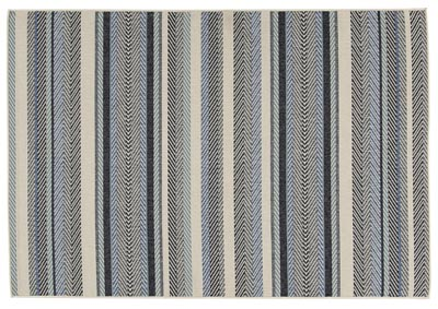 Troost Blue & Cream Medium Rug