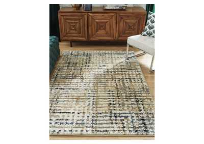 Mahina Tan/Blue/Cream Large Rug