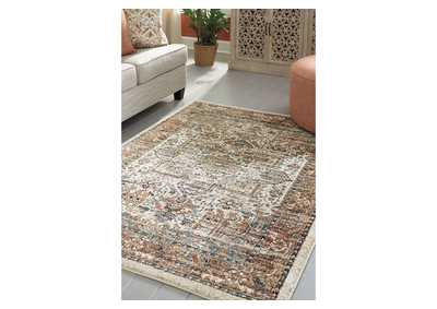 Jirair Tan/Blue/Rust Medium Rug