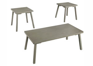 Ginnia Light Gray Occasional Table Set