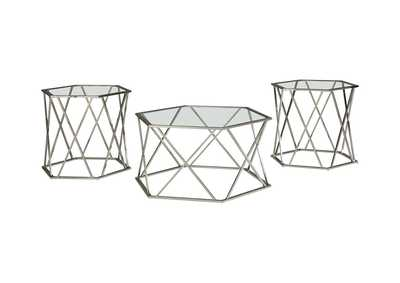 Image for Madanere Chrome Finish Occasional Table Set