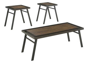 Farna Brown Occasional Table Set