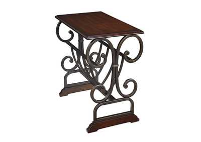 Image for Braunsen Brown Chair Side End Table