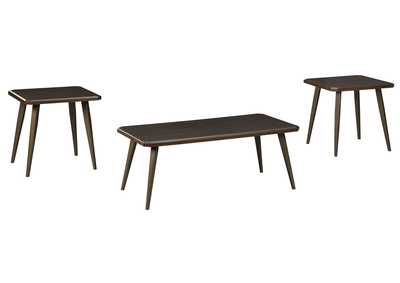 Fazani Dark Brown Occasional Table Set