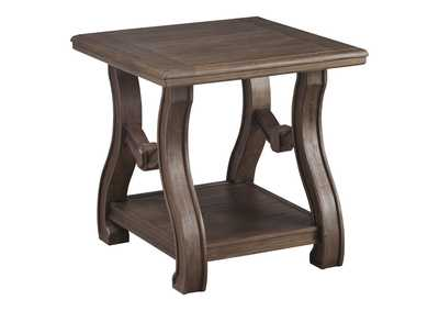 Image for Tanobay Gray Square End Table