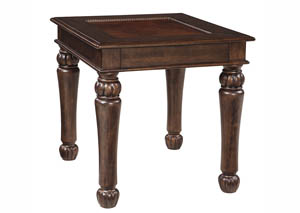 Millburg Brown Rectangular End Table