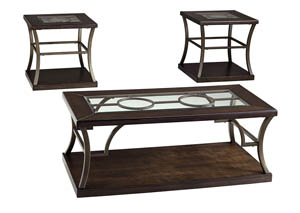 Lamink Brown Occasional Table Set (Set of 3)