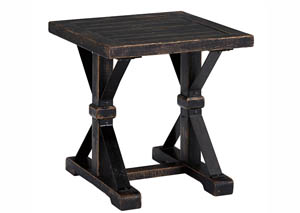 Beckendorf Black Square End Table