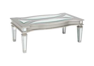 Image for Tessani Silver Rectangular Cocktail Table