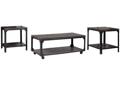Image for Jandoree Brown/Black Occasional Table (Set of 3)