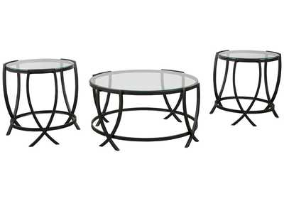 Image for Tarrin Black Table (Set of 3)