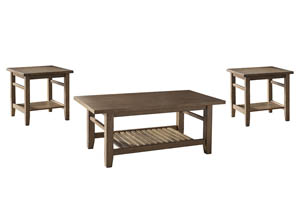 Zantori Light Brown Occasional Table Set