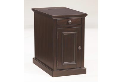 Sable Stain Finish Power Chairside End Table
