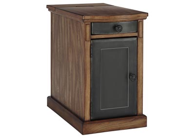 Laflorn Brown/Gray Chair Side End Table