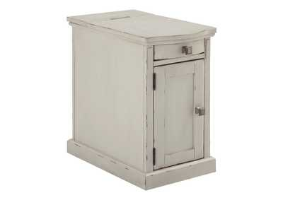 Image for Laflorn White Chairside End Table