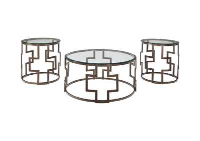 Image for Frostine Dark Bronze Occasional Table Set