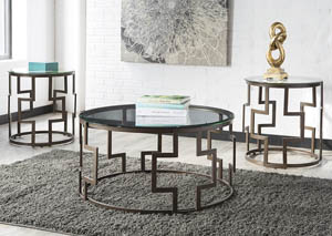 Frostine Dark Bronze Occasional Table Set