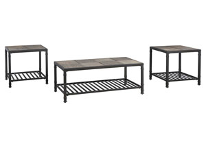 Chelner Dark Gray Occasional Table Set