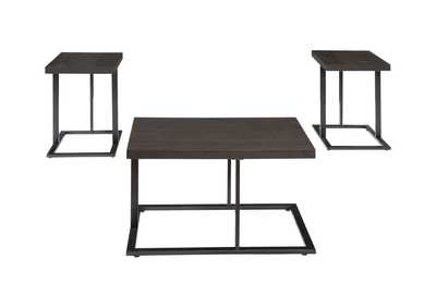 Airdon Gray Occasional Table Set (Cocktail & 2 Ends)