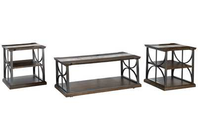 Carisbry Brown/Gray Occasional Table (Set of 3)