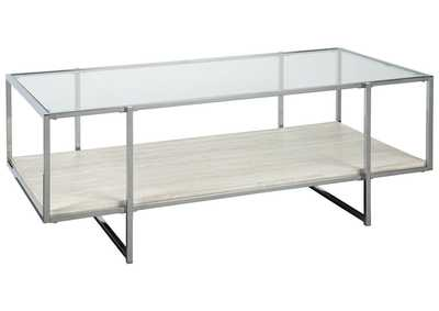 Image for Bodalli Ivory/Chrome Coffee Table