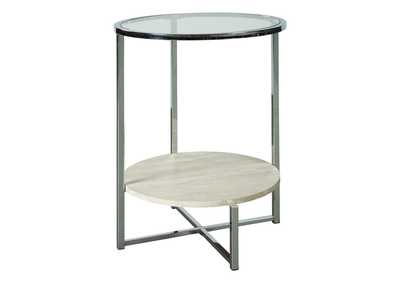Image for Bodalli Ivory/Chrome End Table