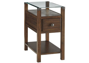 Diamenton Dark Brown Chair Side End Table