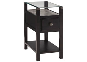 Diamenton Almost Black Chair Side End Table